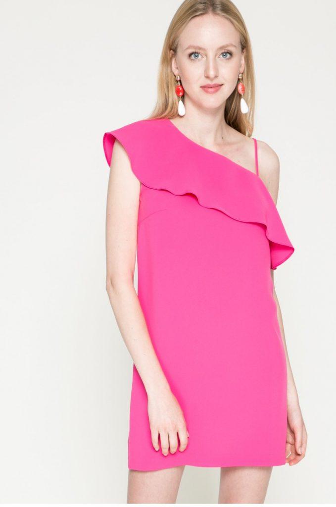 Rochie de ocazie eleganta roz Kiss my dress
