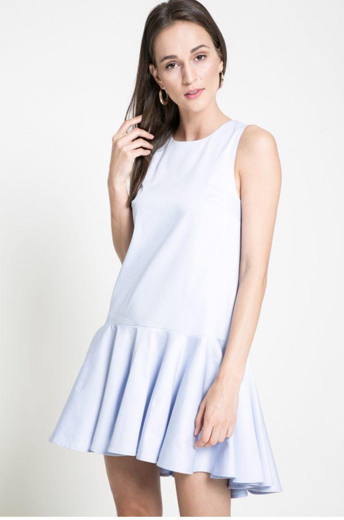Rochie scurta bleu de primavara Kiss my dress
